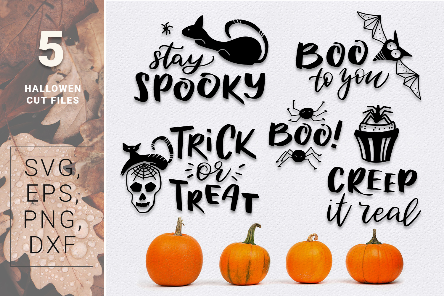 BOO! - Halloween design kit example image 6
