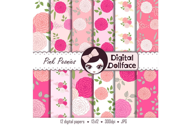 Pink Peonies Patterns example image 2