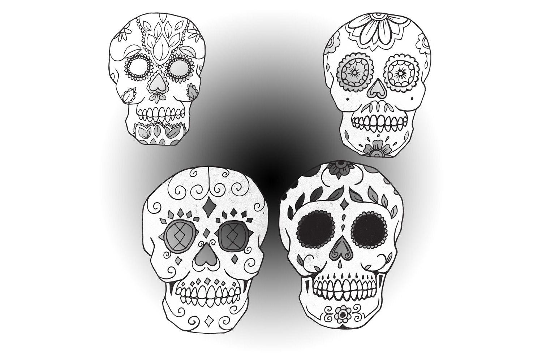 Day of the Dead Calavera Sugar Skulls example image 2