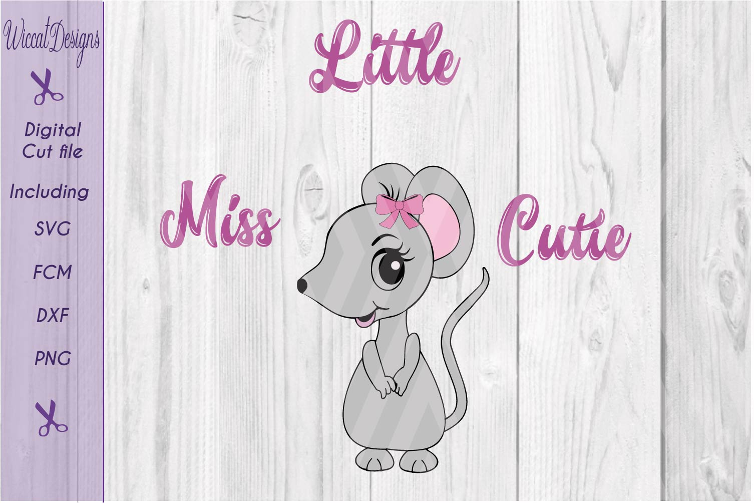 Mouse svg, Little miss cutie svg, quote svg, tshirt design svg example image 3