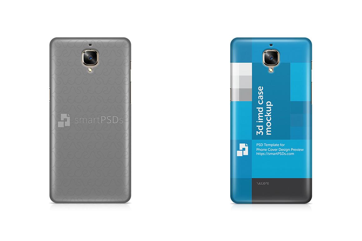 OnePlus 3 3d IMD Mobile Case Design Mockup 2016 example image 2