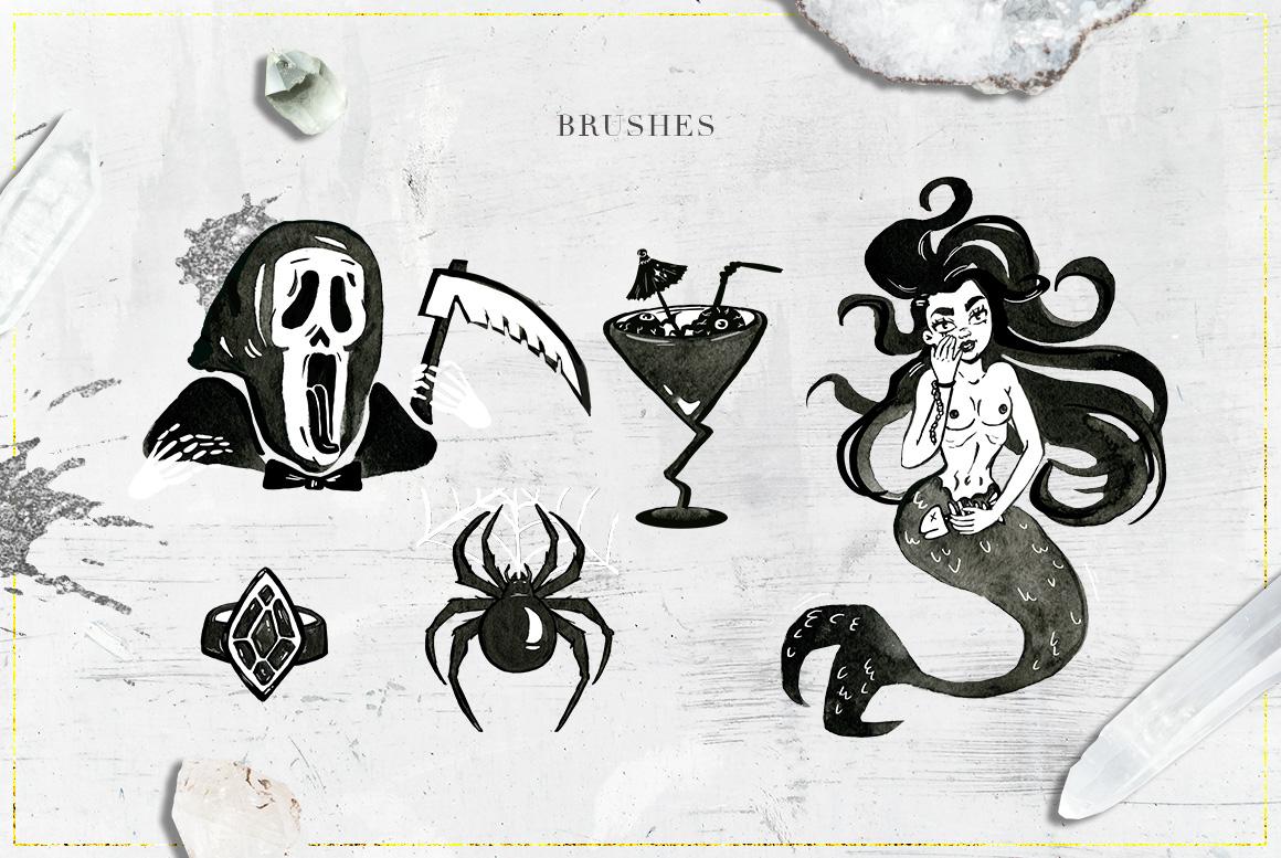 75 Witchcraft Photoshop Brushes example image 7