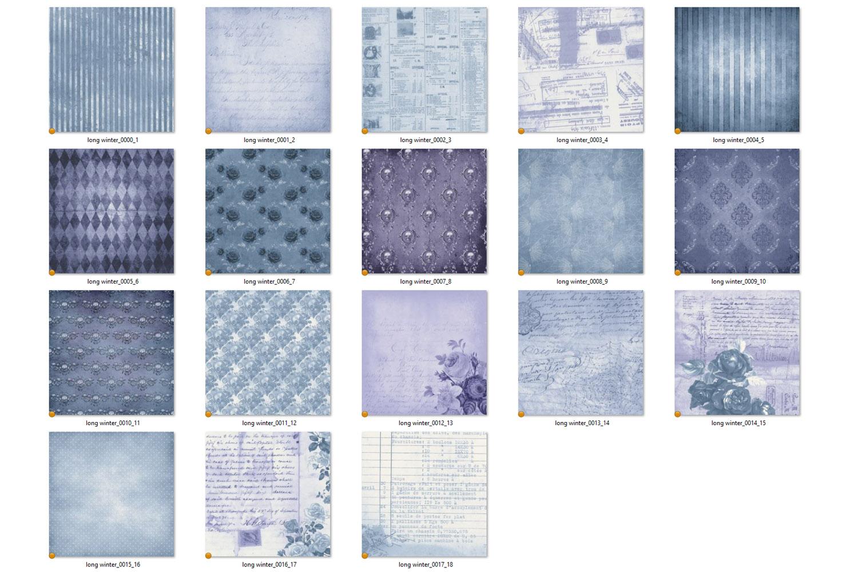 Long Winter Textures - Vintage Digital Paper example image 3