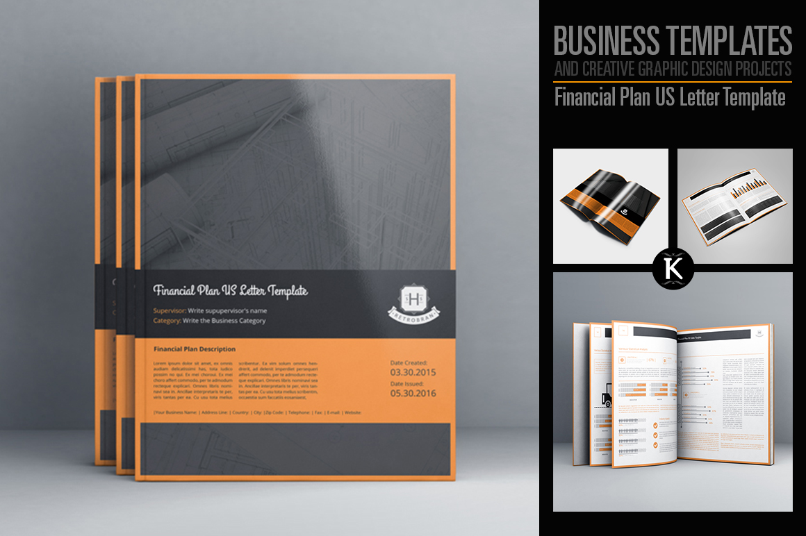 Financial Plan US Letter Template example image 1