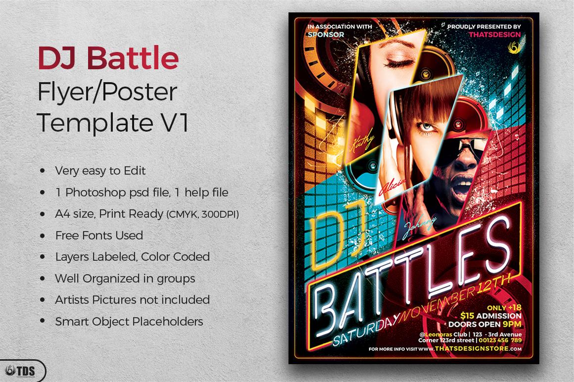 DJ Battle Flyer Template V1 example image 2