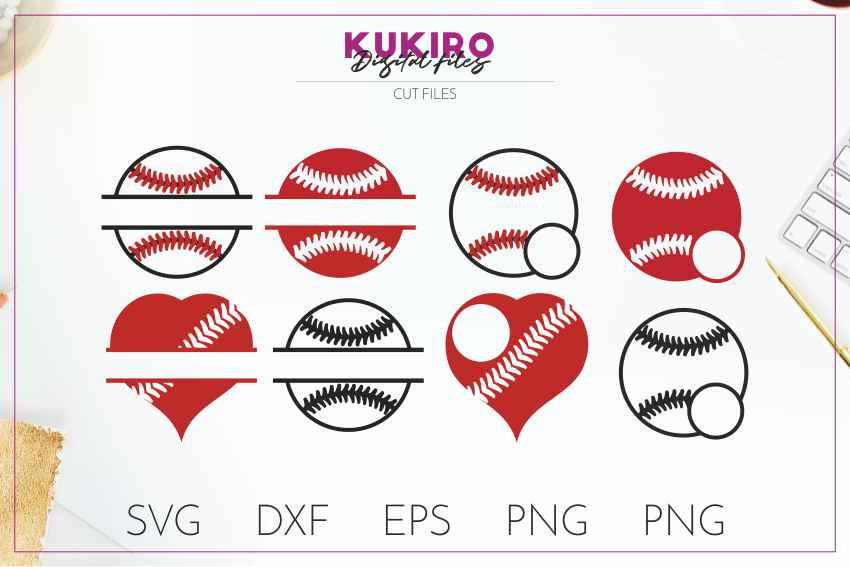 Baseball SVG BUNDLE Cut files SVG DXF EPS PNG Baseball Mom example image 12