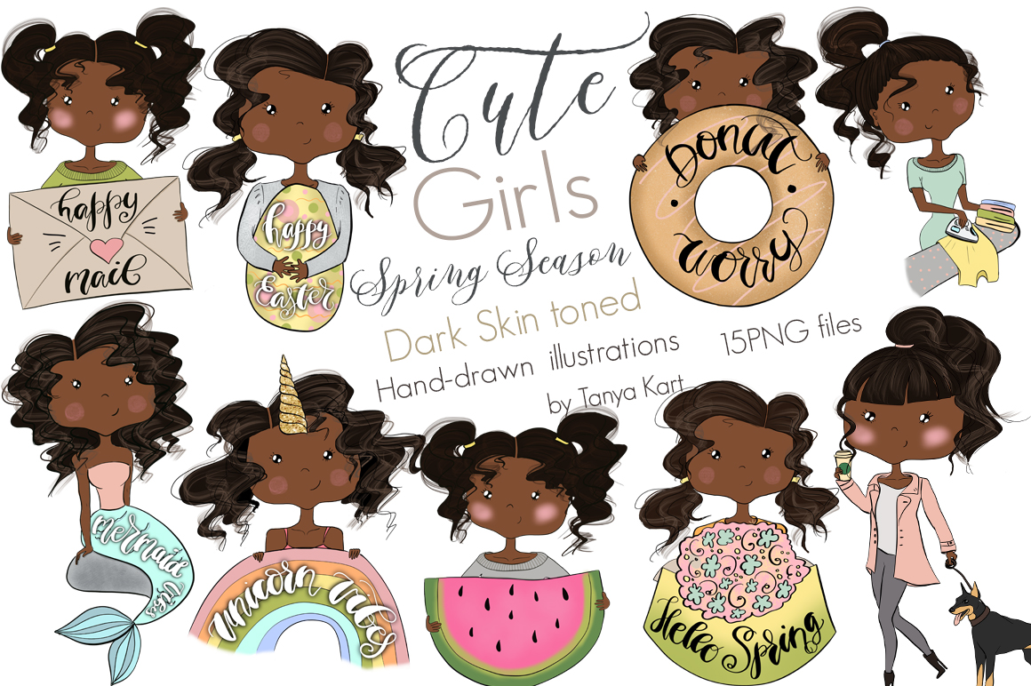 Cute Planners Girls Spring Collections Bundle example image 11