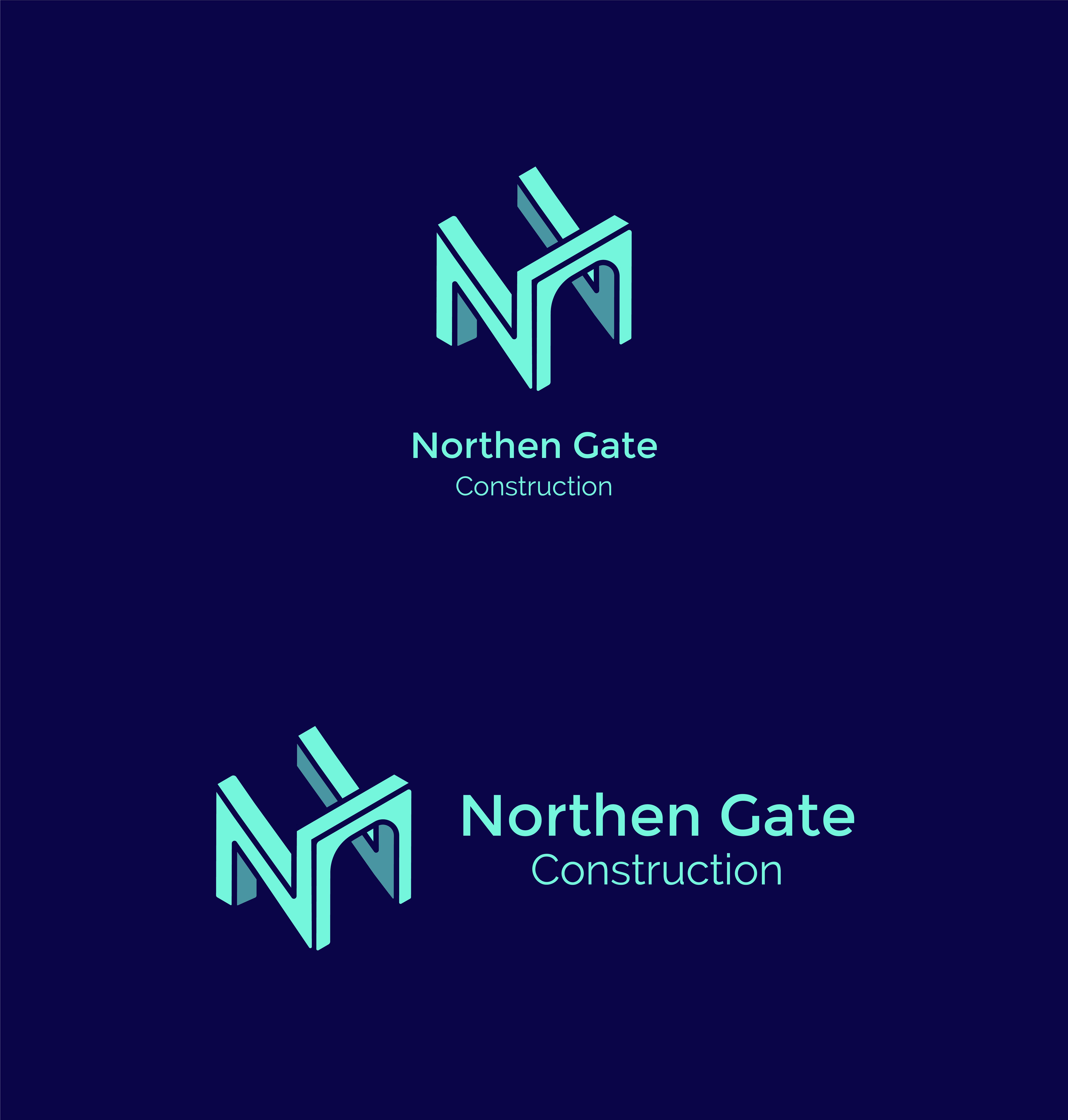 Letter N - Construction Gate Bridge Logo Logo Template example image 9