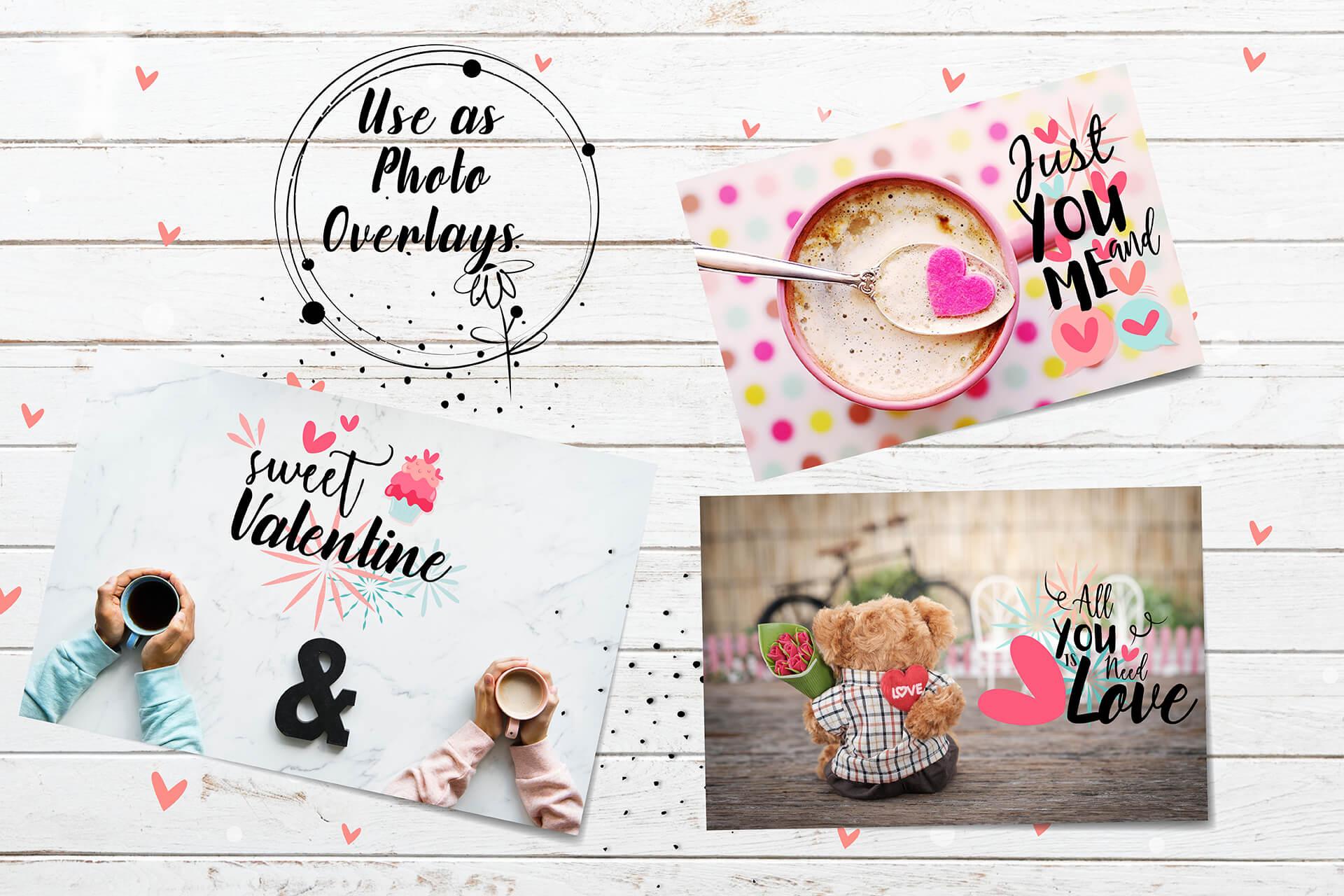 Hand drawn Valentine SVG Design Bundle example image 2