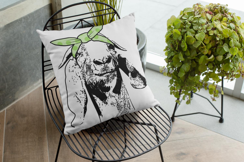Goat with hair bandana example image 2