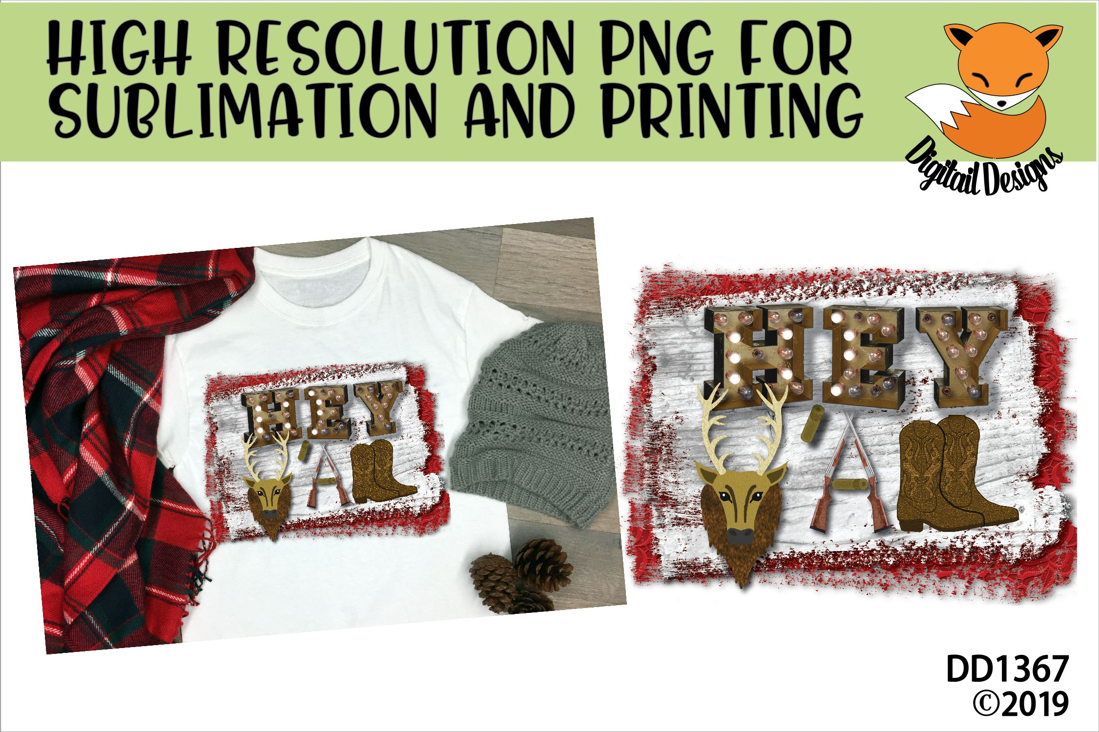 Hey Y'all Western Sublimation Printable example image 1