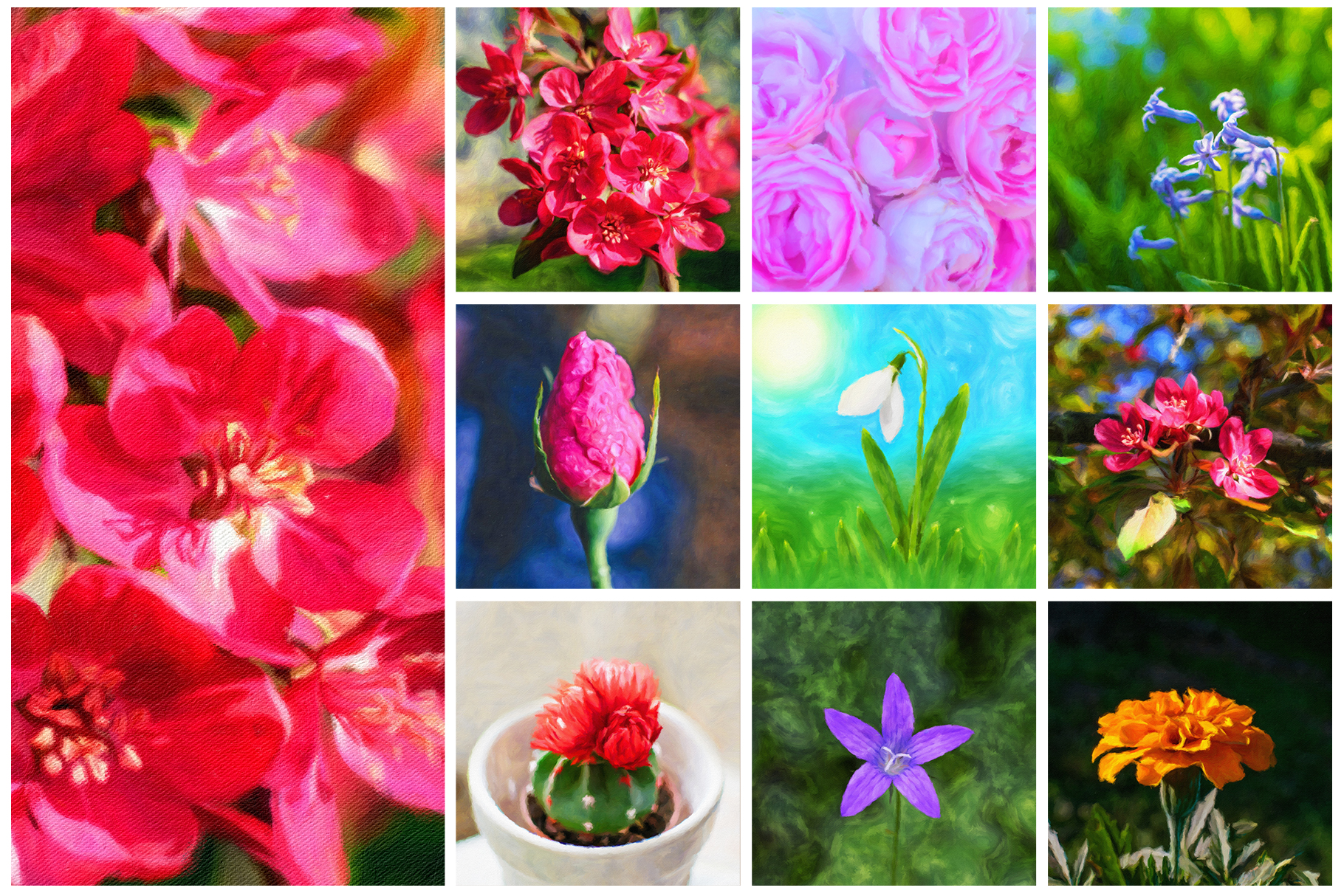 Spring Flowers and Paintings Bundle example image 7
