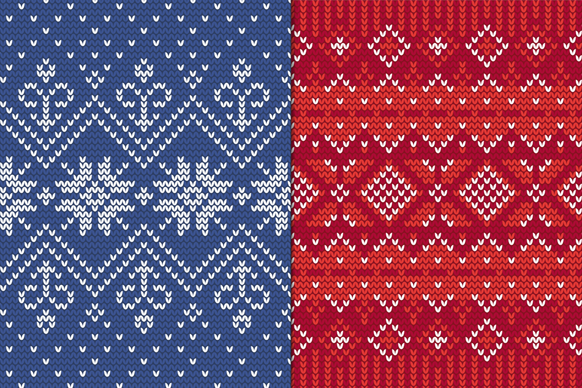 12 Knitting Seamless Patterns example image 2
