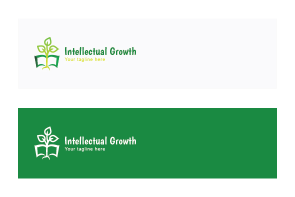 Intellectual Growth - Nature & Education Abstract Stock Logo example image 2
