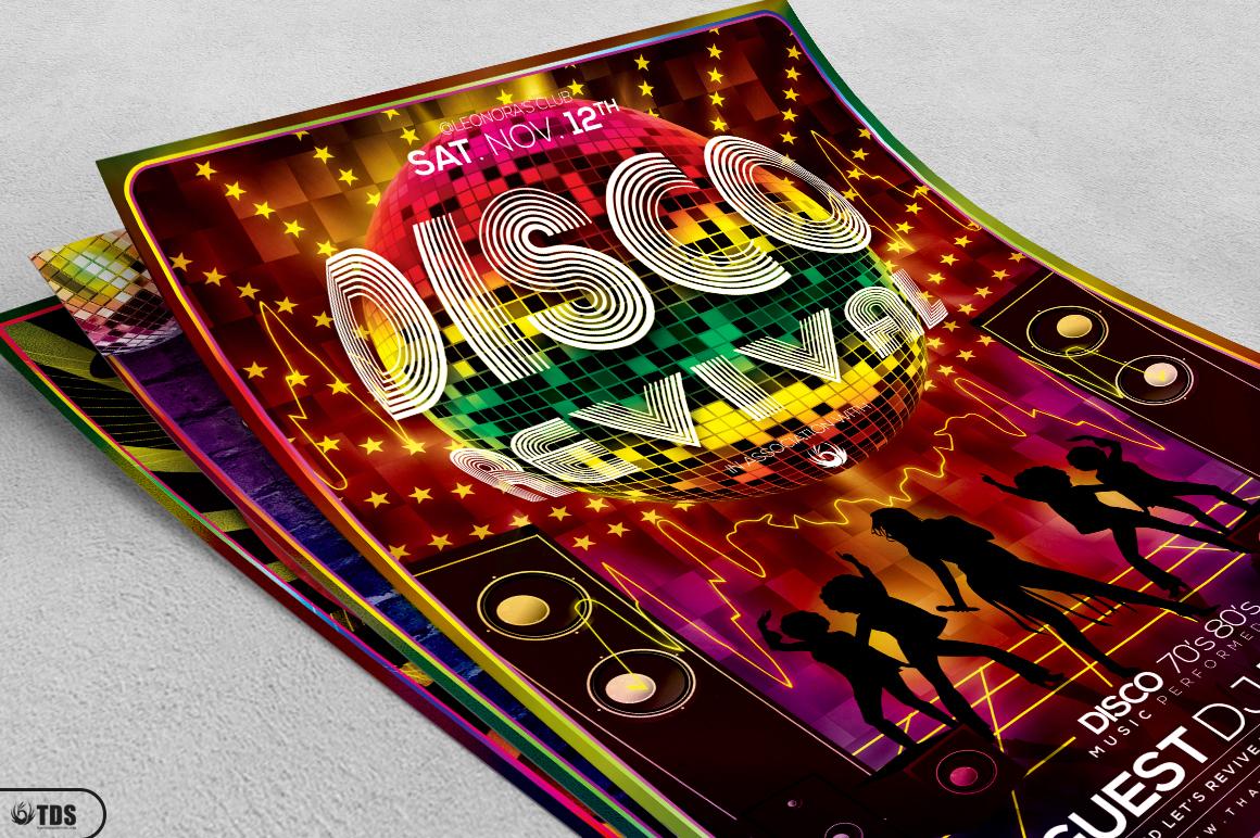 Disco Music Flyer Bundle V1 example image 4