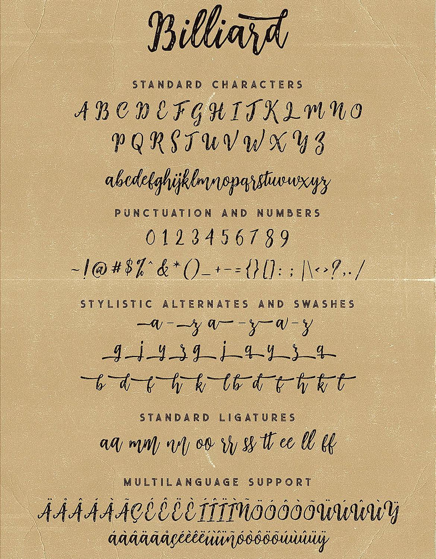 Billiard Font Duo example image 7