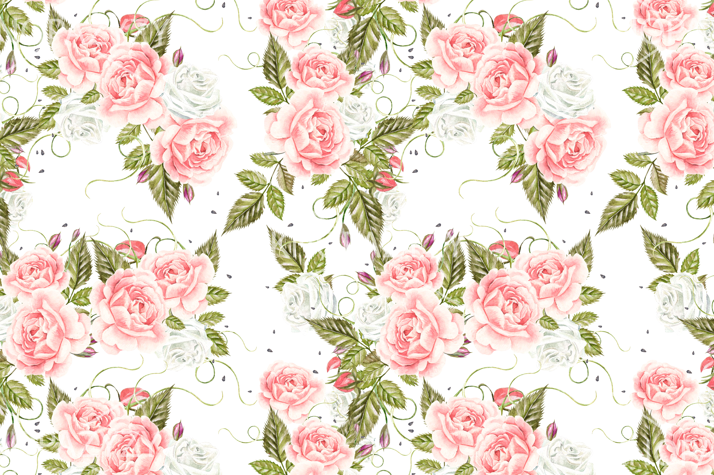 15 Hand Drawn Watercolor PATTERNS example image 12