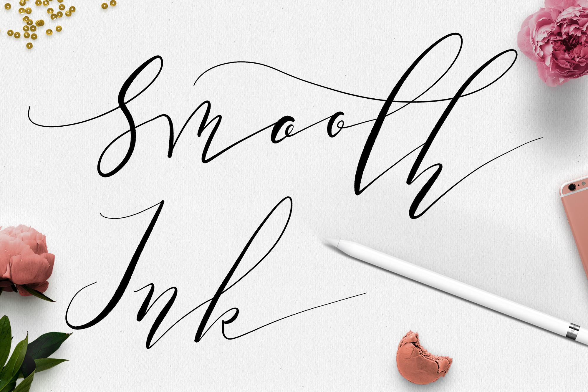 Procreate Lettering Brushes + Bonus example image 14