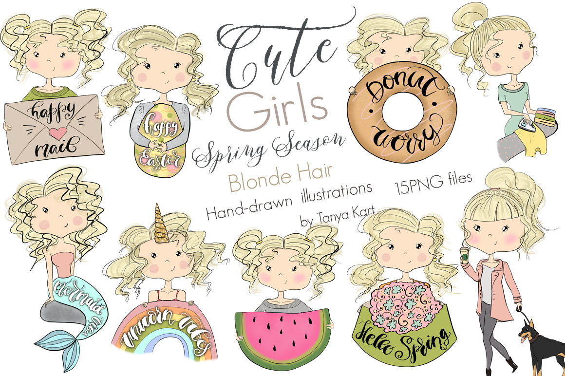 Cute Planners Girls Spring Collections Bundle example image 8
