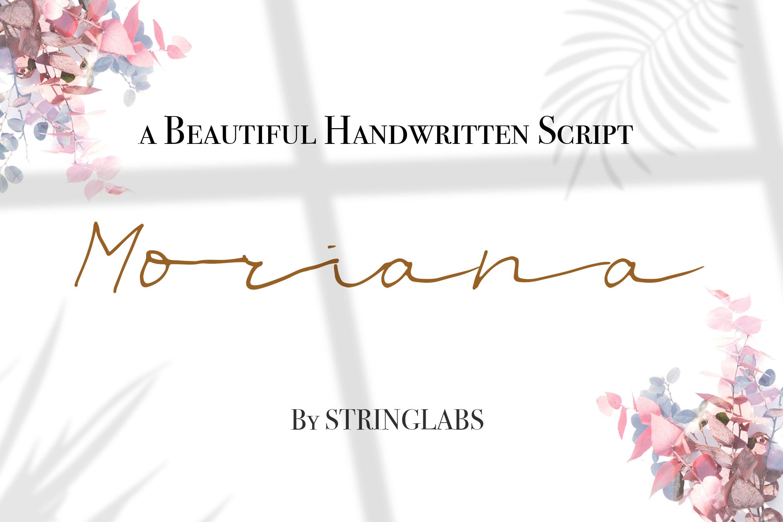 Moriana - Handwritten Script Font example image 1