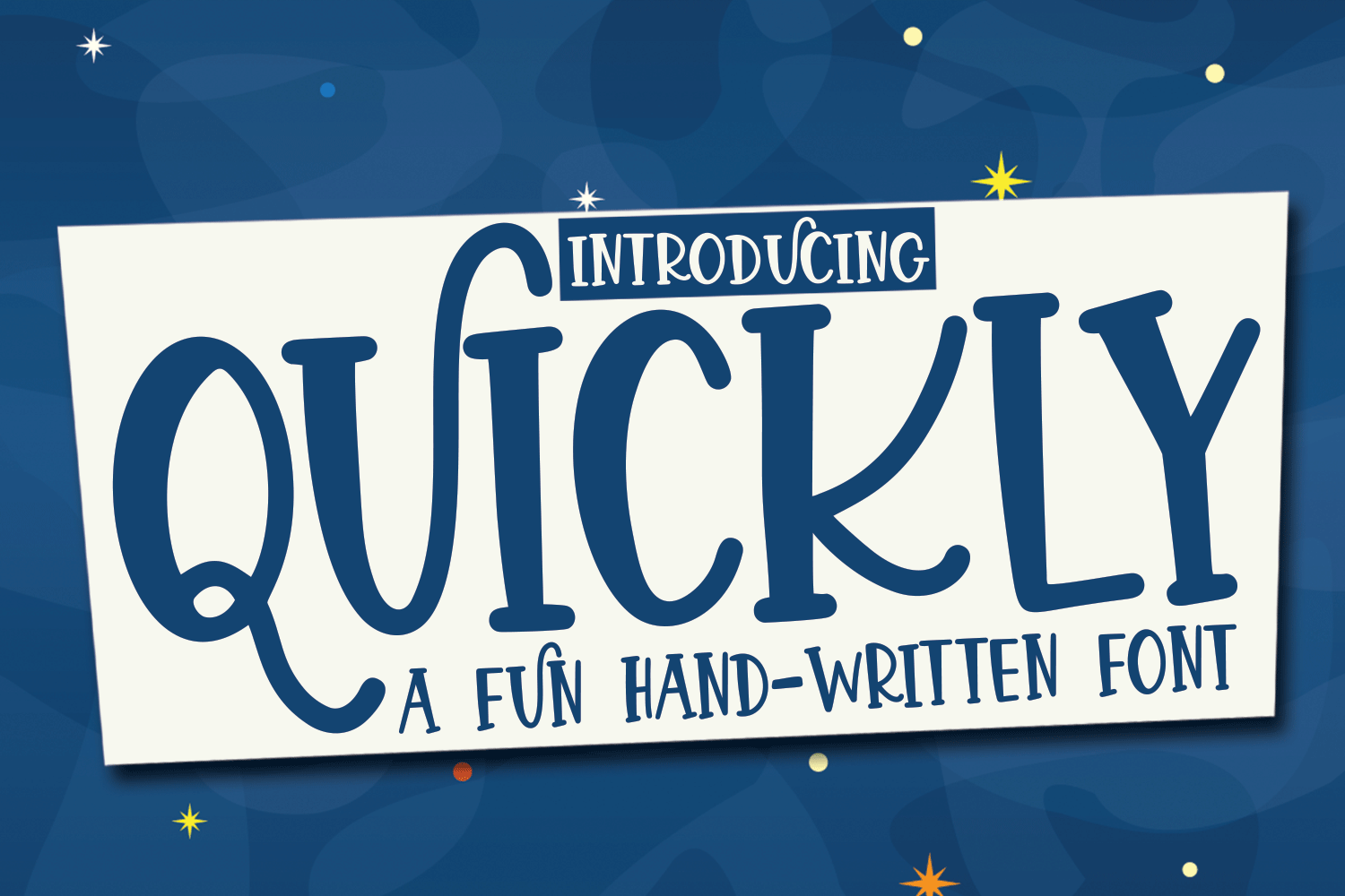 Quickly - A Fun Hand-Written Font example image 1