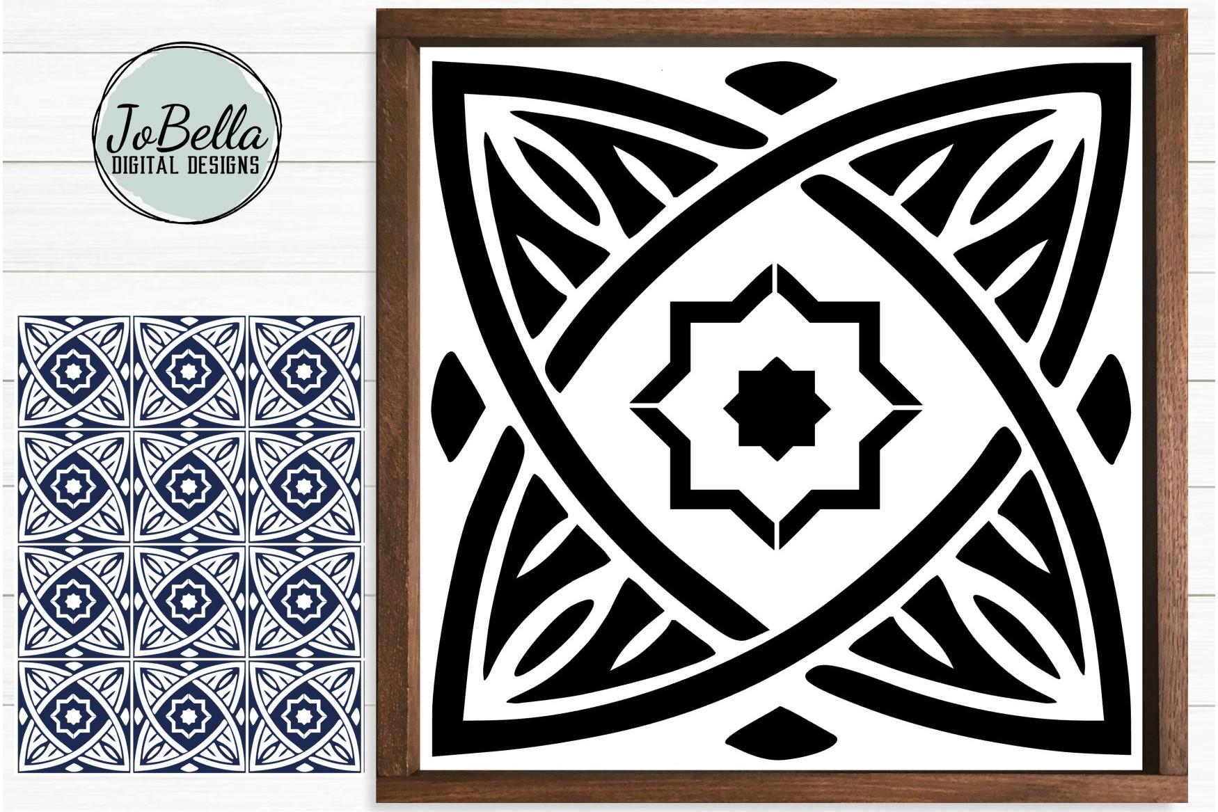 Moroccan Tile 2 Svg Stencil