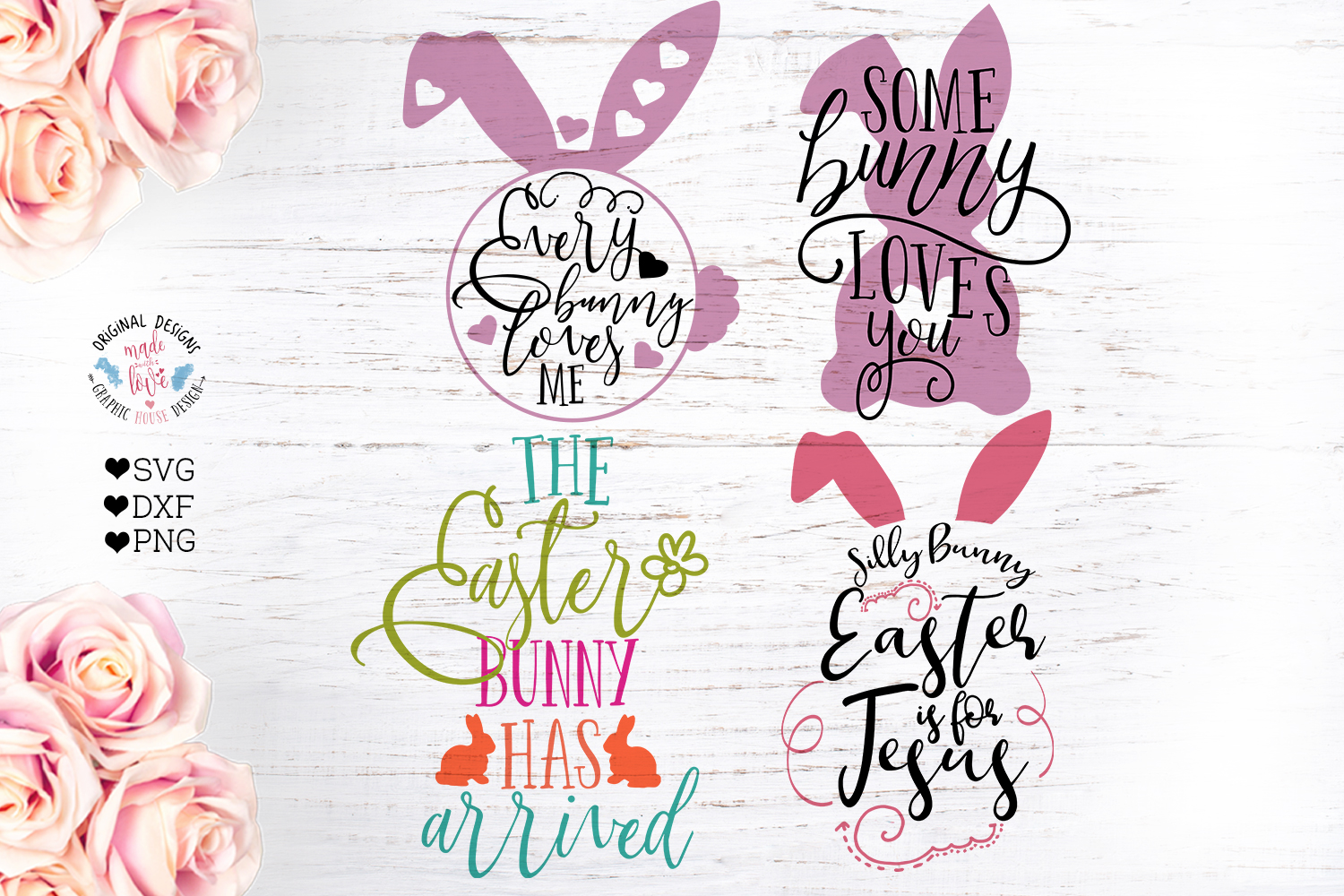 Easter Cut File Bundle in SVG, DXF, PNG example image 3