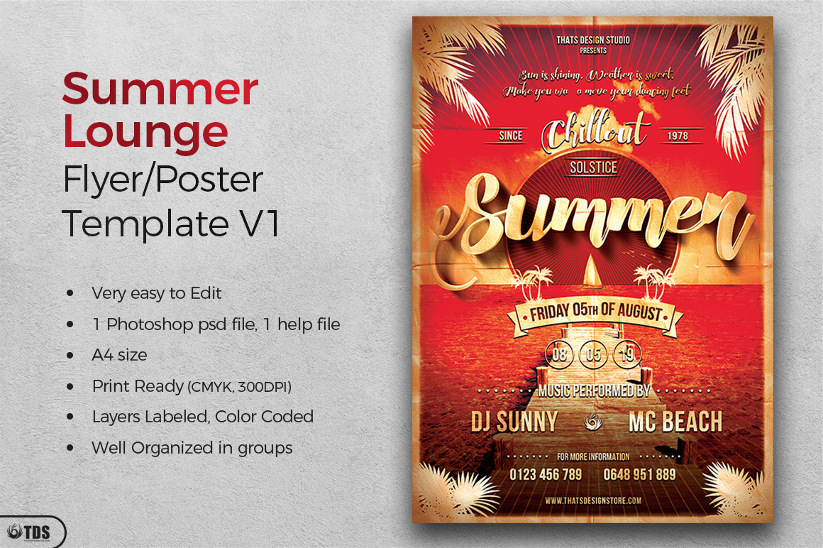 Summer Lounge Flyer Template V1 example image 2