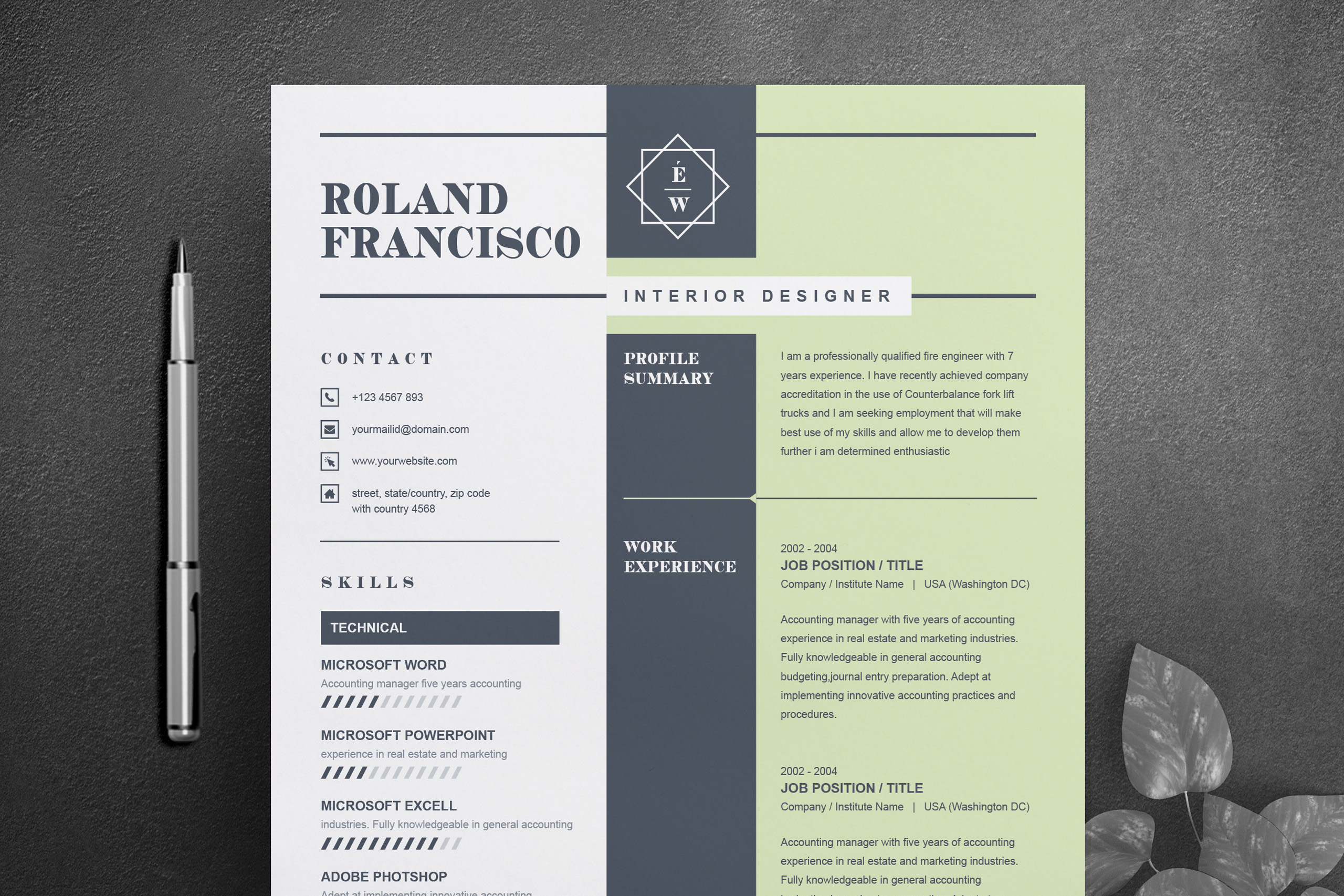 two page resume  cv template cover letter 468298