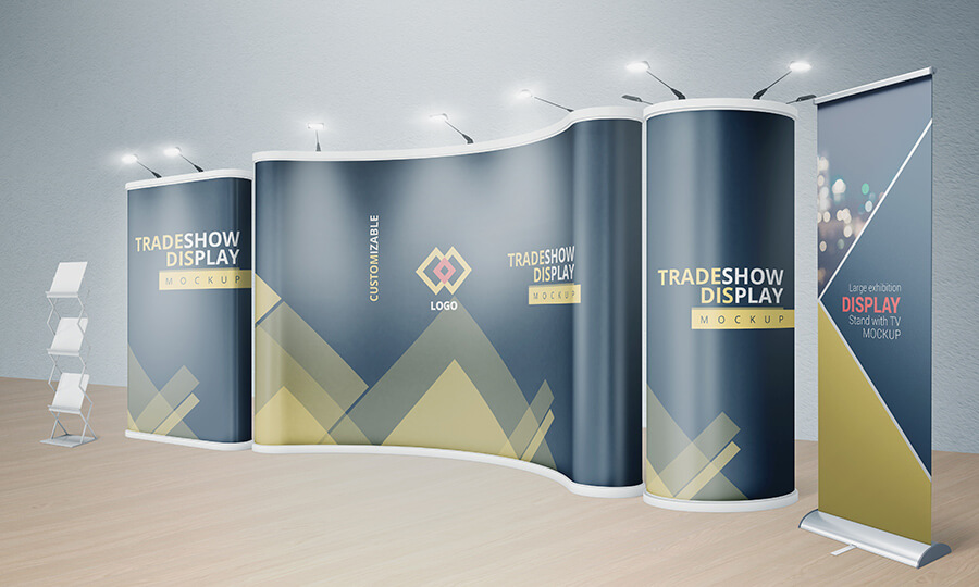 VARIOUS TRADESHOW EXHIBITION BOOTH MOCKUPS example image 4