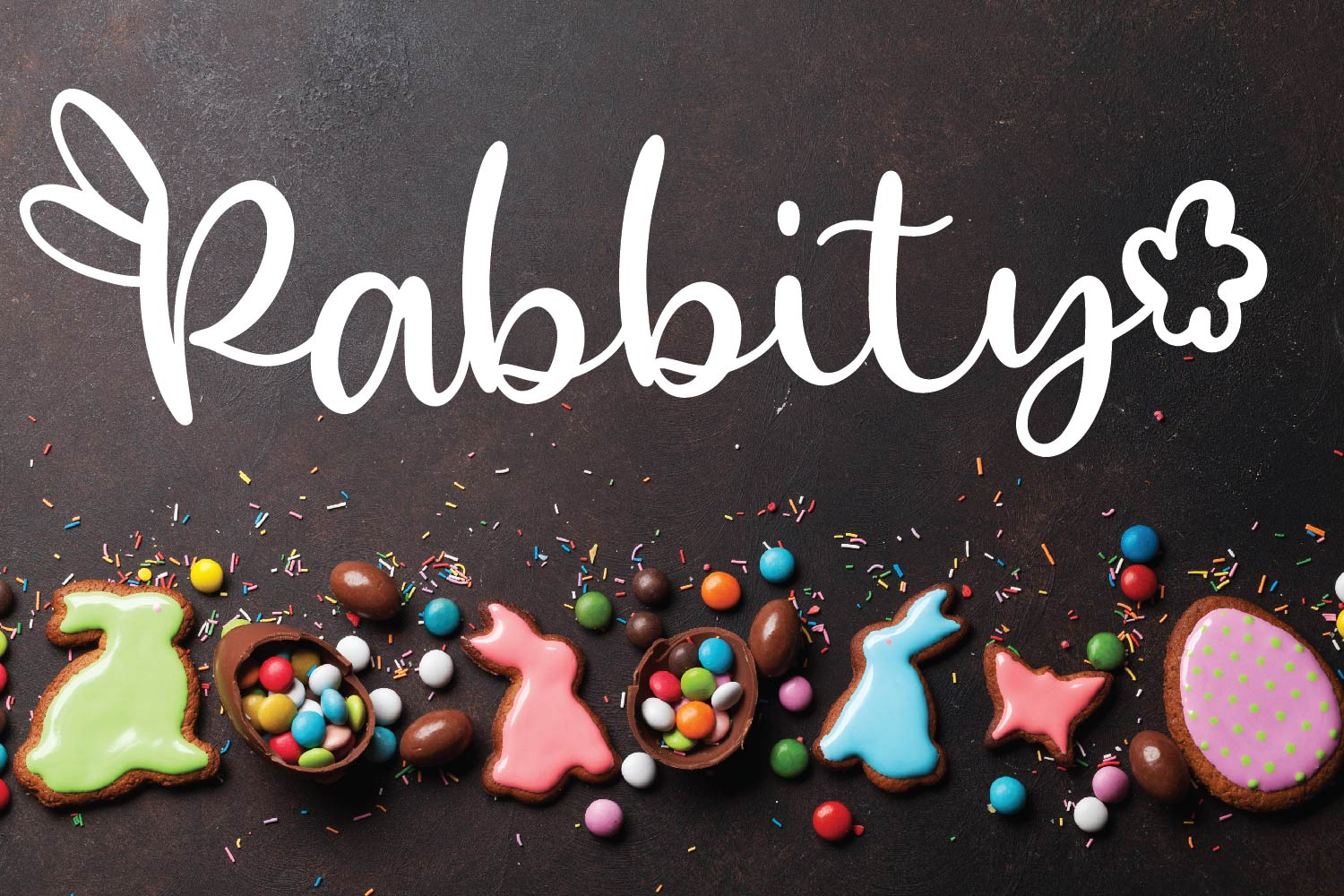 Rabbity - A Spring Font With Ears & Cotton Tails example image 1