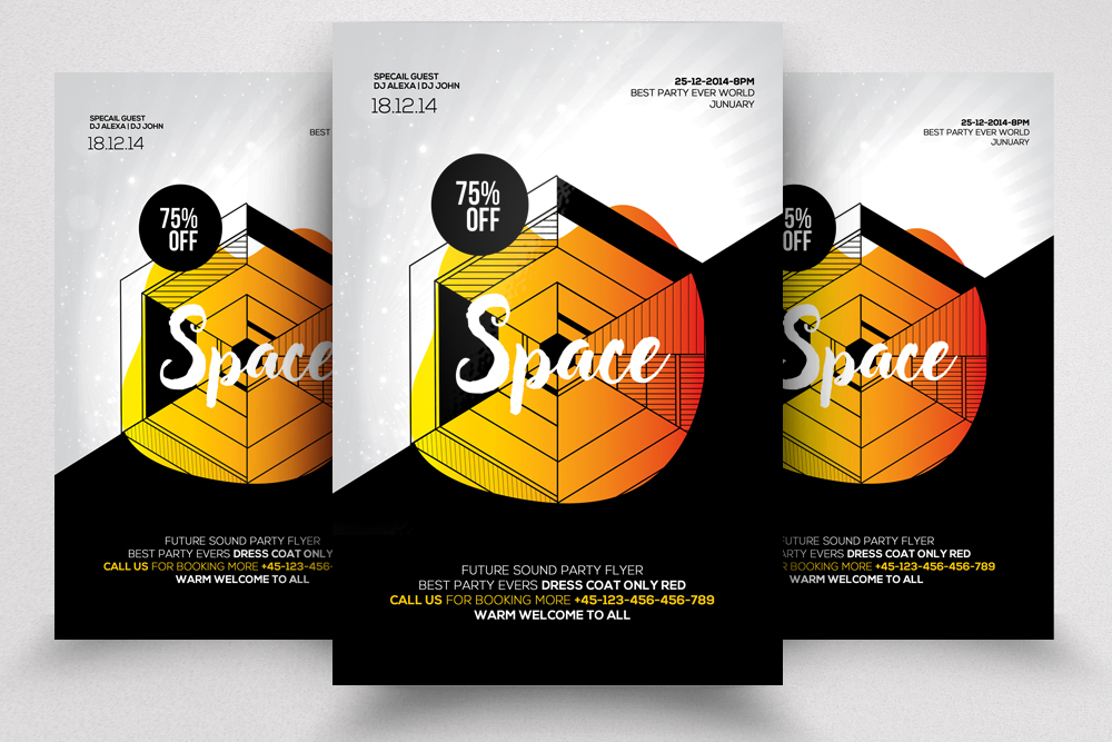 Space Flyer/ Poster Template example image 1