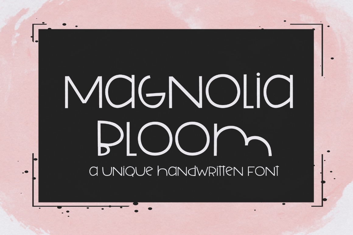 Magnolia Bloom: Handwritten Font example image 4