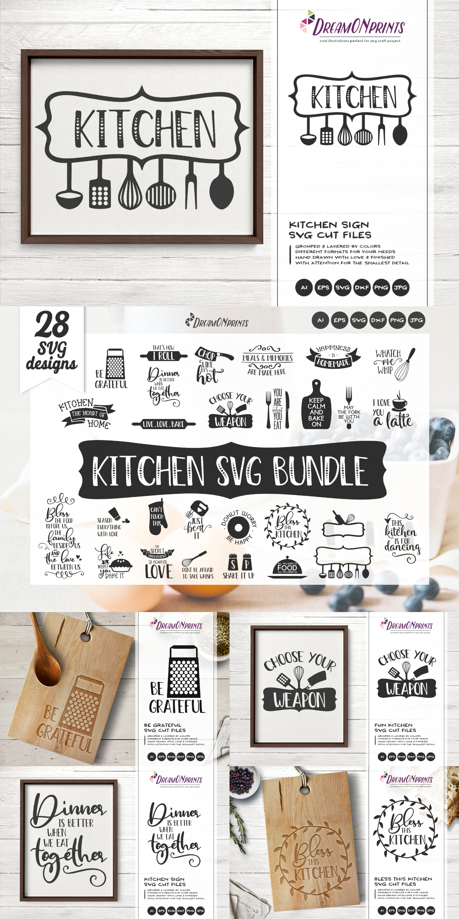 Kitchen SVG Bundle - Kitchen Sign Making SVG example image 2