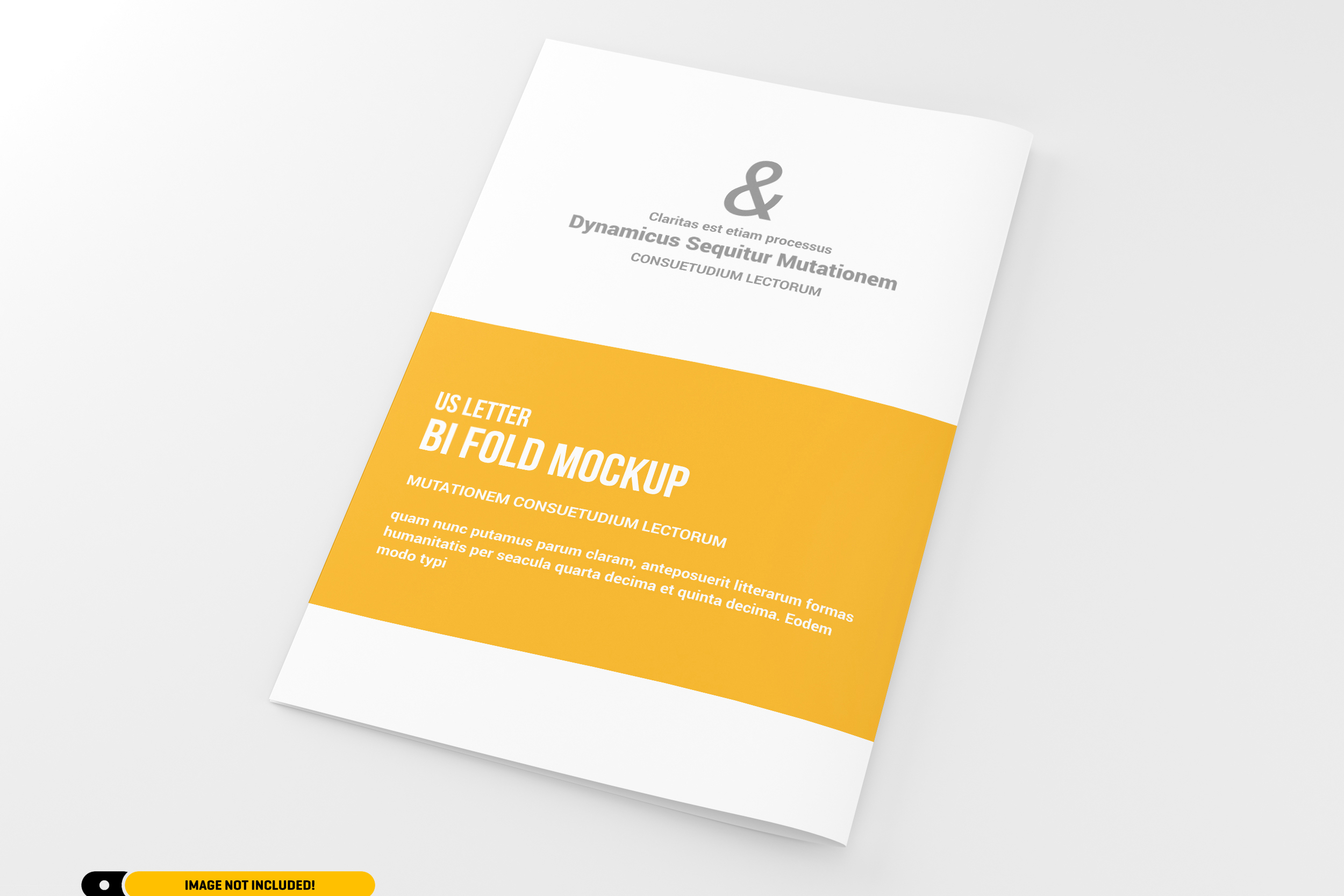 US Letter Bifold Brochure Mockup example image 2