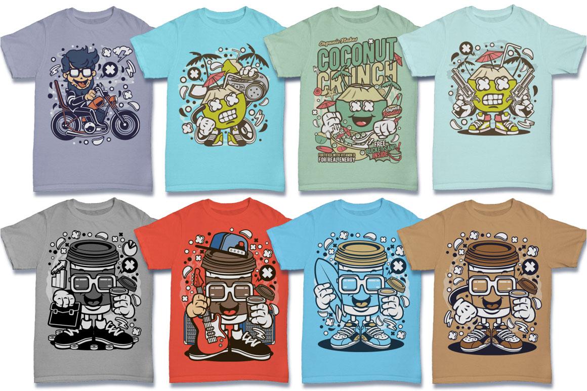 Cartoon Vector #6 Tshirt Design Bundle example image 7