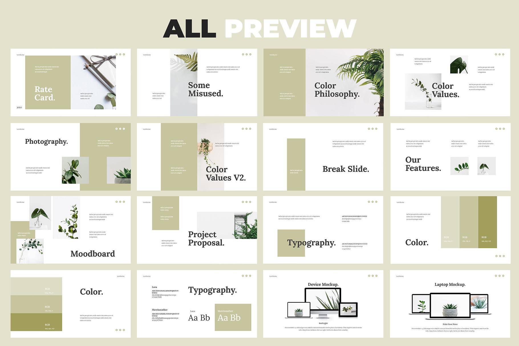 Vertilla-Brand Guideline Keynote example image 6