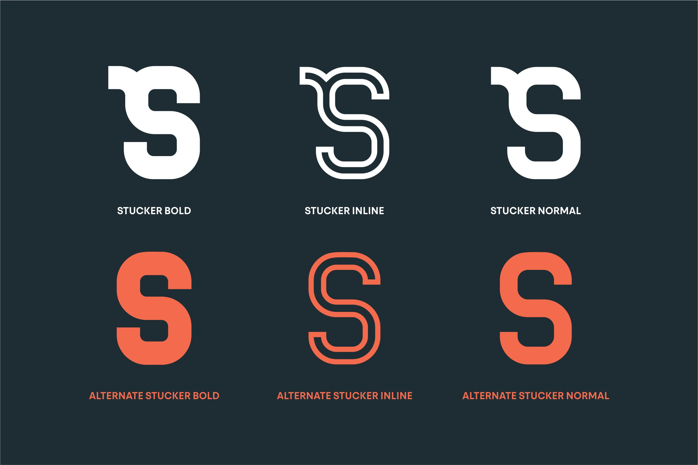 Stucker - Regular, Bold & Inline example image 4