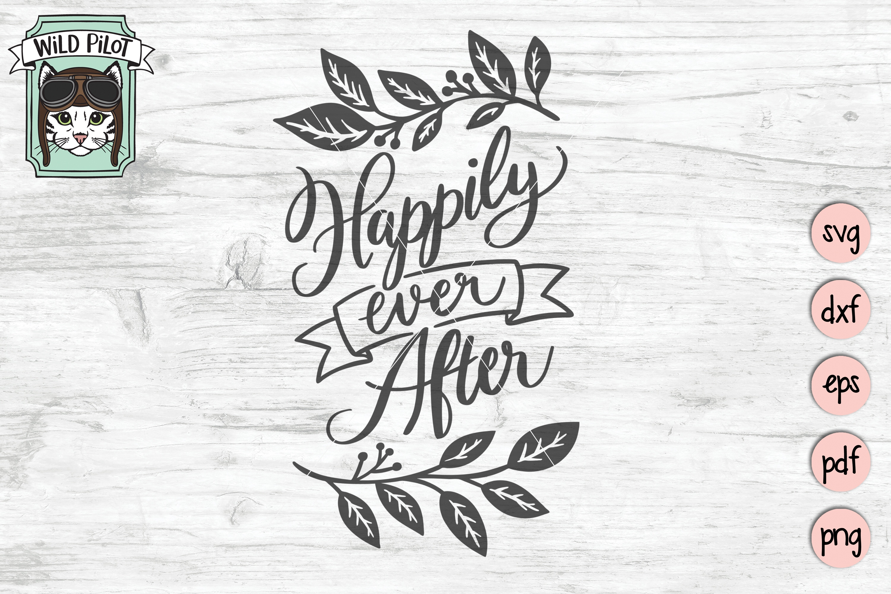 Happily Ever After SVG file, Wedding Sign Cut File, Married example image 3