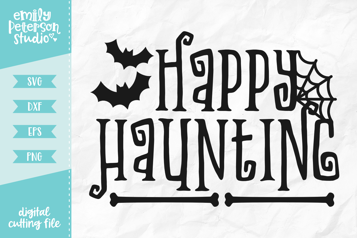 Happy Haunting SVG DXF EPS PNG example image 1