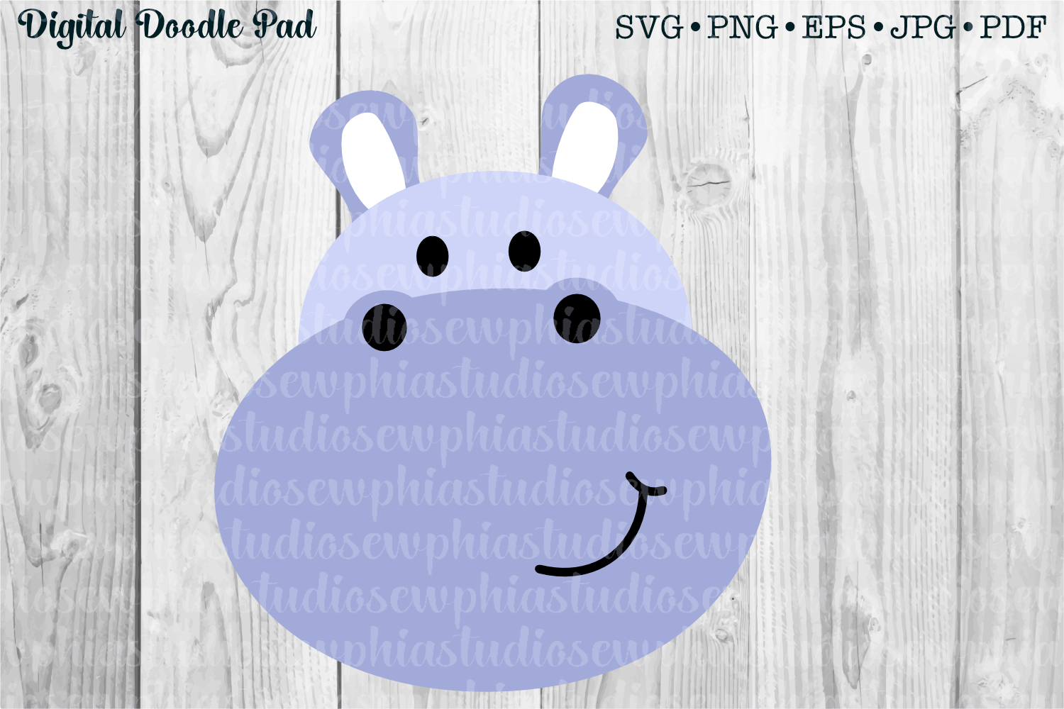 Hippo by Digital Doodle Pad example image 1