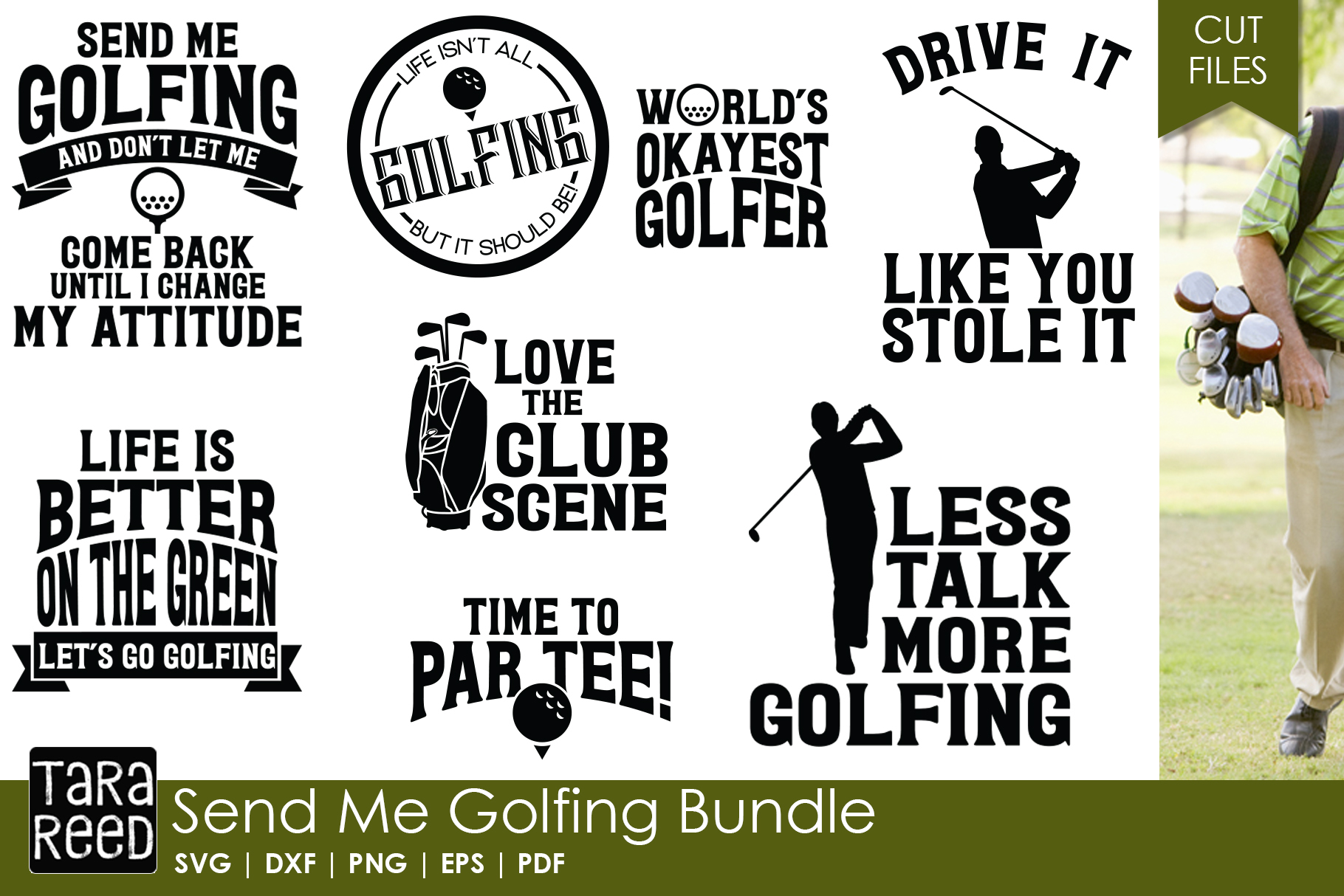 Send Me Golfing - Golf SVG & Cut Files for Crafters example image 1