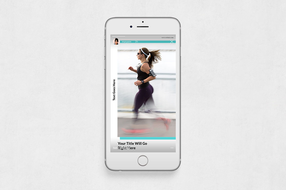 Fitness Animated Instagram Stories example image 6