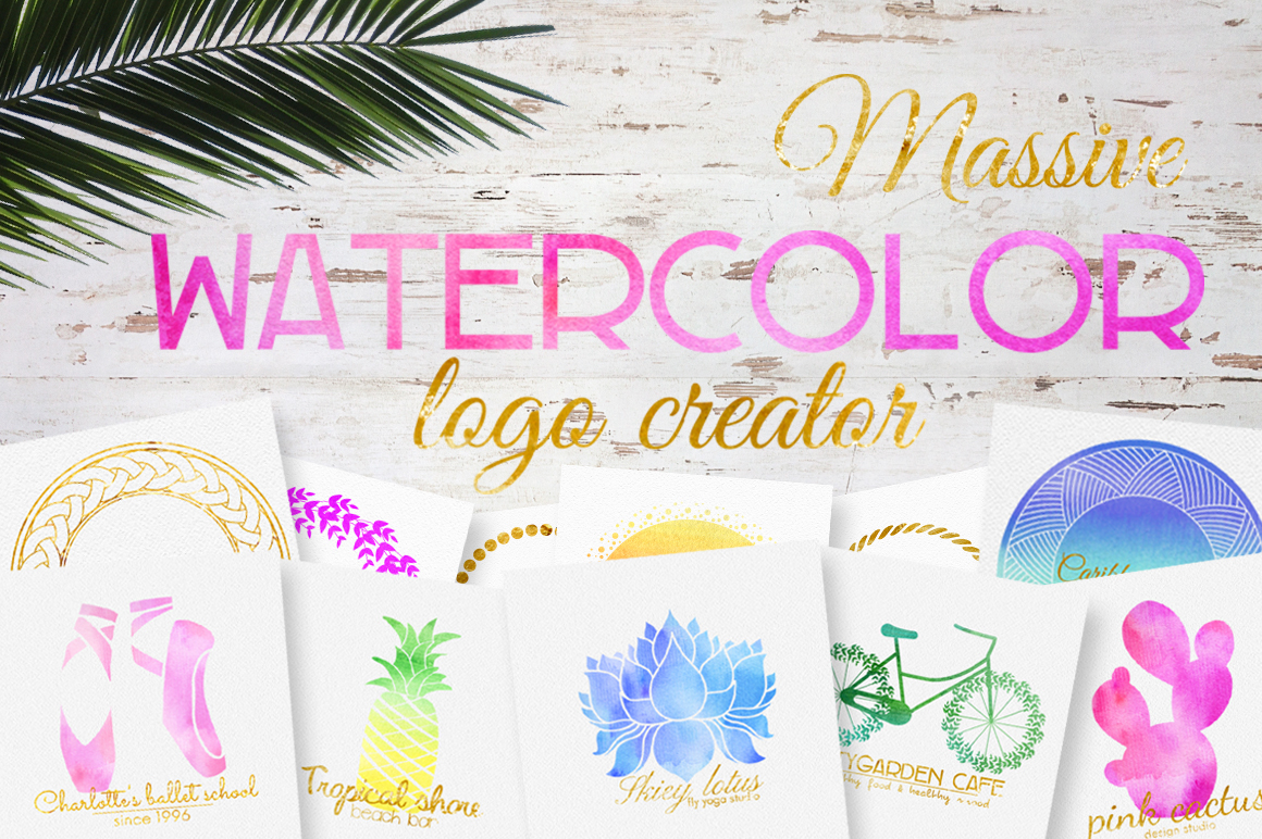 Massive watercolor logo creator example image 1