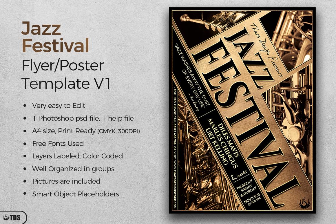 Jazz Festival Flyer Template V1 example image 2