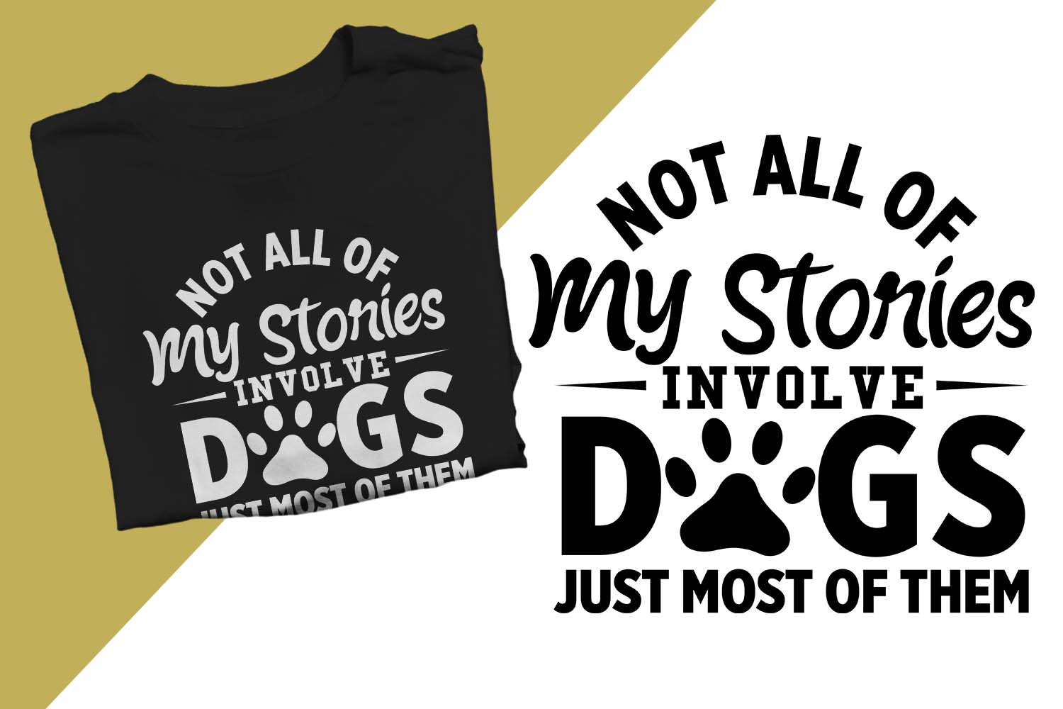 My stories involve dogs Printable example image 1