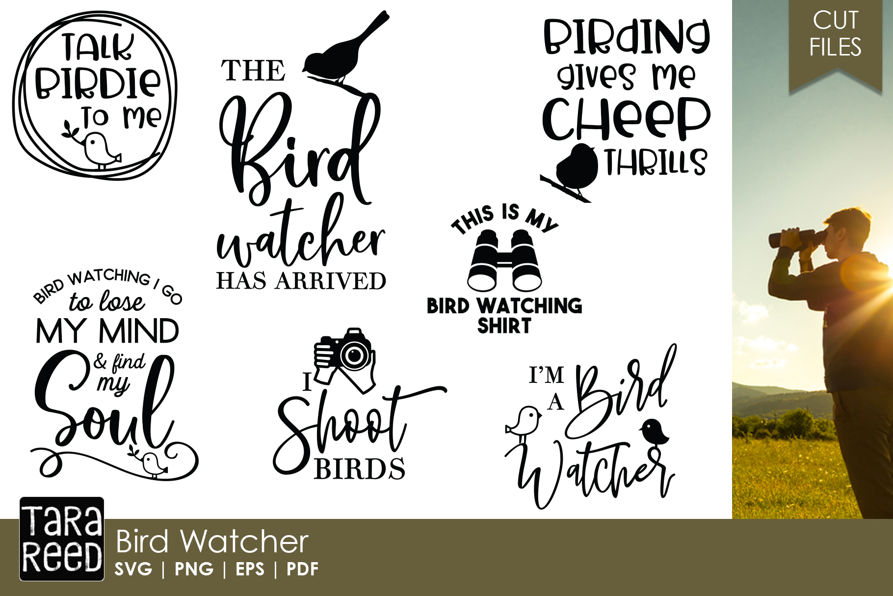 Bird Watching - Bird Lover SVG and Cut Files for Crafters example image 1