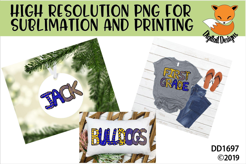 Sublimation Printable Doodle Alphabet Letters example image 3