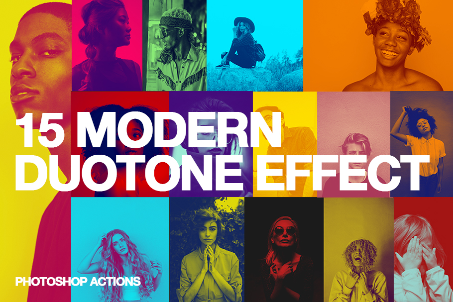 15 Modern Colors Duotone Effect Action example image 2