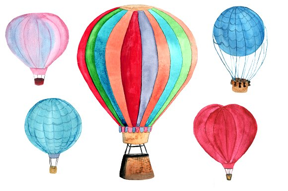 5 Hot Air Balloon PNG+JPEG example image 2